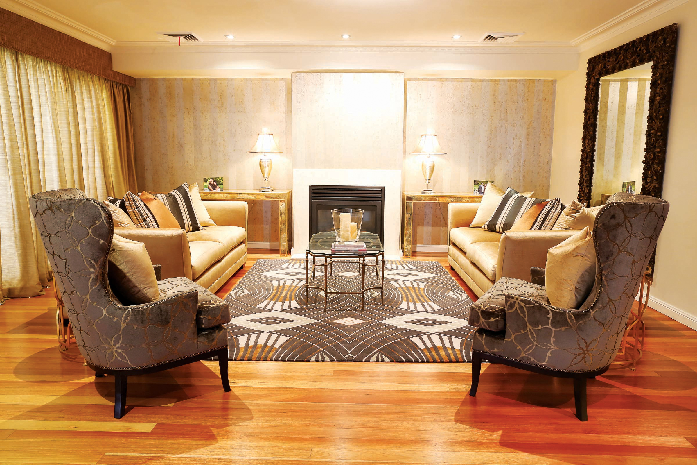 Formal lounge designed by Susan Svoboda of Saltbox Furniture & Interior Design Studio