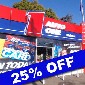 25% Off all Floor Stock at Auto One WAITARA
