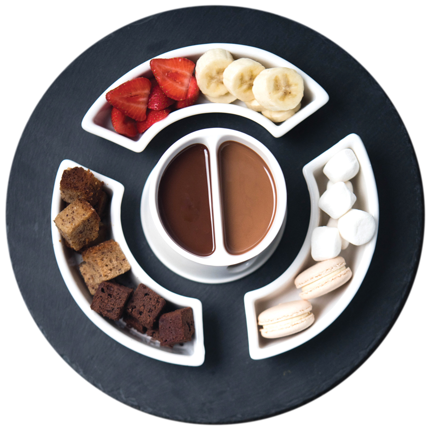 $16.50 for Chocolate Fondue and 2 hot chocolates (value $32.95) when you mention Living Local Magazine